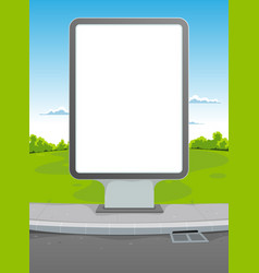 white billboard vector image