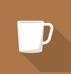 white cup icon flat style vector image