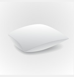 White pillow isolated on grey background vector image