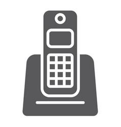 wireless telephone glyph icon appliance vector image