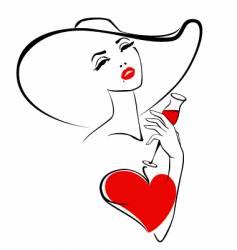 Woman in love vector