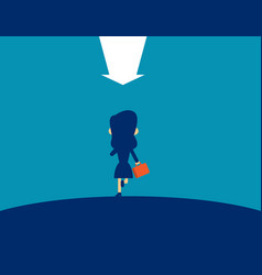 woman running concept business leadership vector image