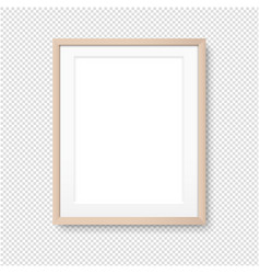wood picture frame isolated transparent background vector image
