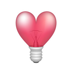 bulb in shape of heart vector image vector image