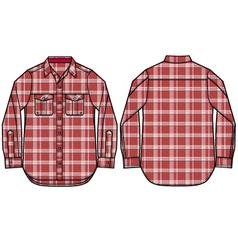 check pattern shirt design vector image