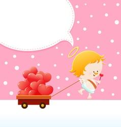 Cupid Delivering Love vector image vector image