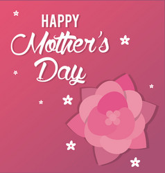 Happy mothers day card greeting party vector