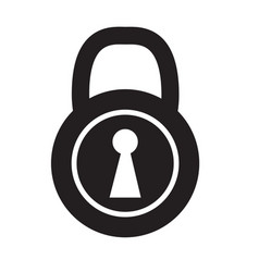 lock icon on white background lock sign vector image