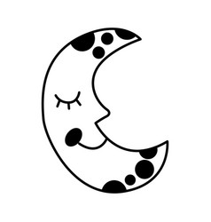moon with stars isolated icon vector image