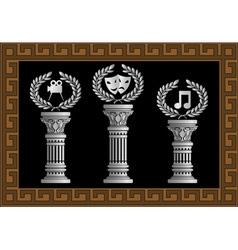 pedestal of arts vector image