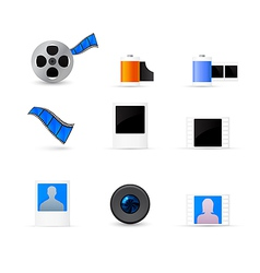 Photo and video icons set vector image