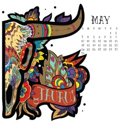 Taurus color vector image vector image