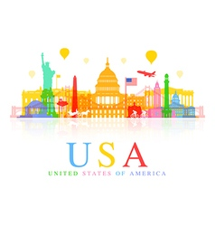 USA Travel vector image