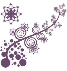 artistic purple tree vector image vector image