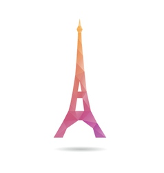 Eiffel Tower abstract isolated vector image vector image