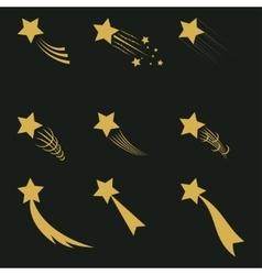 Falling gold stars vector image