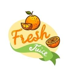 fresh juice emblem 3 vector image vector image