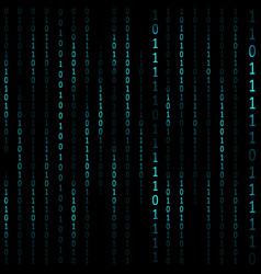 matrix hacker dark background vector image