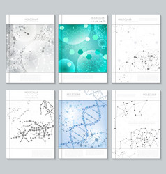 Molecular structure brochure or report templates vector image vector image