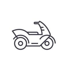 motorcyclemotorbike line icon sign vector image