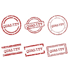 Quality stamps vector image vector image