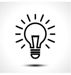light bulb idea logo template vector image vector image