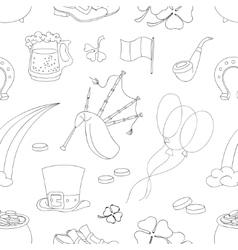 Saint Patricks Day pattern vector image vector image