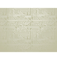 Silver circuit board background vector image vector image