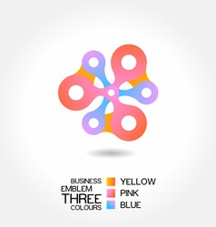 abstract business emblem vector image vector image