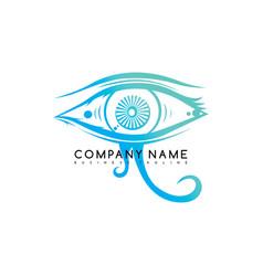 Eye look see logo logotype template art vector