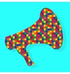 Hypnotic Megaphone on Turquoise Background vector image