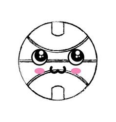 kawaii basketball ball icon vector image