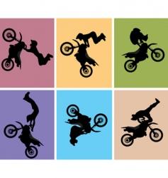 Motocross jump vector