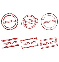Service stamps vector image vector image