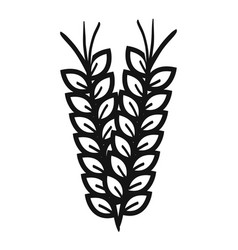 wheat spike isolated icon vector image vector image