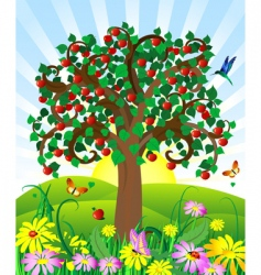 wild apple vector image