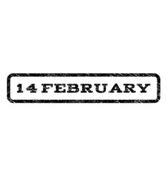 14 february watermark stamp vector