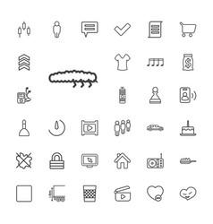33 button icons vector