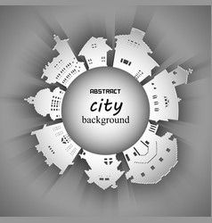 abstract 3d paper city background vector image