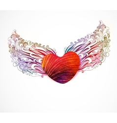 Abstract heart with wings EPS 10 vector