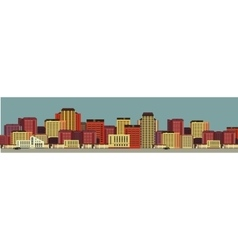 background city streets in flat style vector image