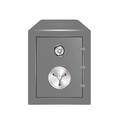 bank safe with combination lock vector image