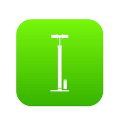 Bicycle pump icon digital green vector