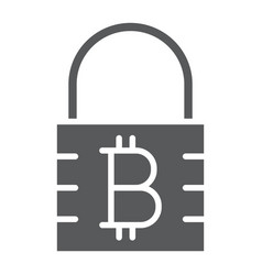 Bitcoin encryption glyph icon money and finance vector