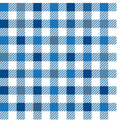 blue gingham mix seamless pattern vector image