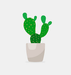 Cactus color flat icon for web and mobile vector