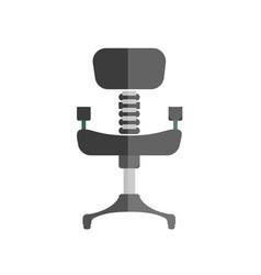 cartoon comfortable simple black office chair vector image