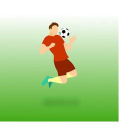 Chest control football player vector