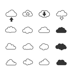 Clouds collection set Concept - computing web and vector image