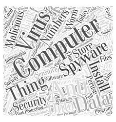 Computer Security Word Cloud Concept vector